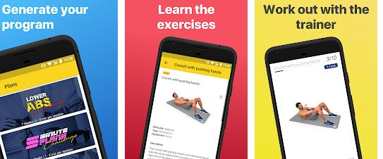 Aplicații pentru abdomen Android sau iPhone Abs Workout - Daily Fitness