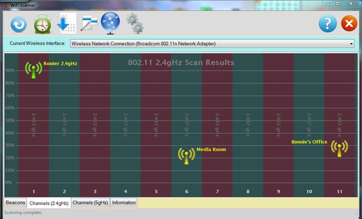 Caracteristicile programului WiScan