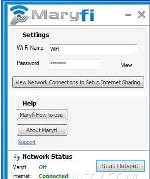Creează rețea Wi-Fi hotspot cu Maryfi