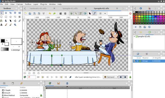 Programe pentru animație video Windows Synfig