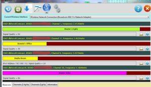 Scanare rețele Wireless cu semnal bun WiScan