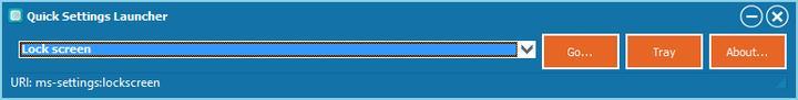 Setări din Windows 10 mai rapid Quick Launcher