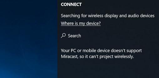 afla dacă calculatorul suportă Miracast