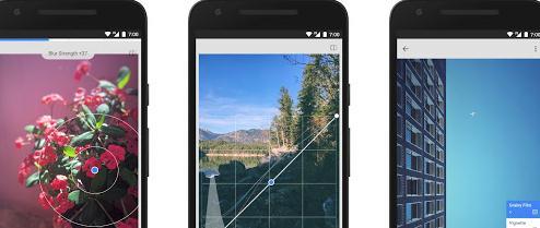 aplicatie de slabit in poze Snapseed (AndroidiOS)