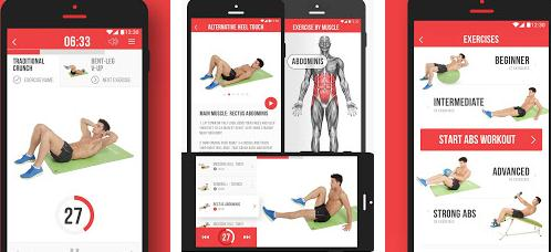 aplicatie pentru muschi abdominali VGFIT ABS