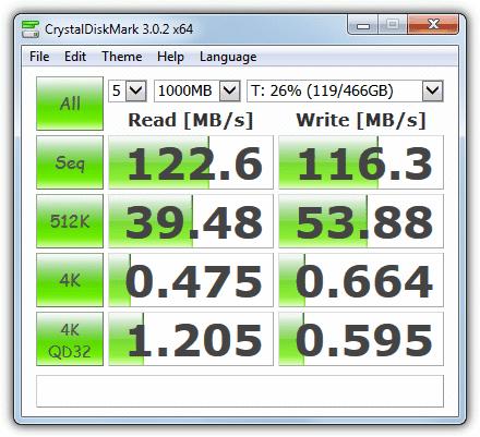 verifica hard disk CrystalDiskMark