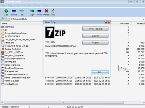 Program de arhivat fisiere 7-Zip