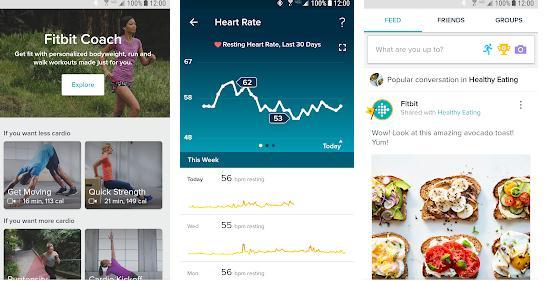 Aplicații pentru slăbit gratuite Android sau iPhone Fitbit Android iOS