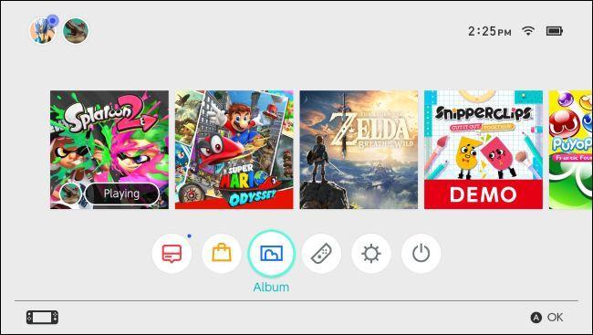 Captură de ecran pe Nintendo Switch