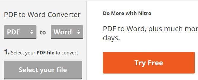 Convertire PDF în Word gratuit