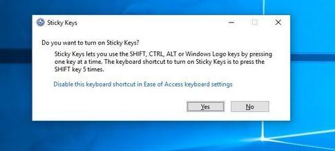 Cum se activează sau dezactivează Taste Adezive Sticky Keys în Windows