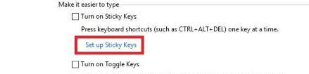 Dezactivează Sticky Keys din Windows