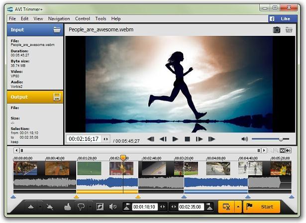 Programe pentru tăierea video Solveigmm AVI Trimmer +
