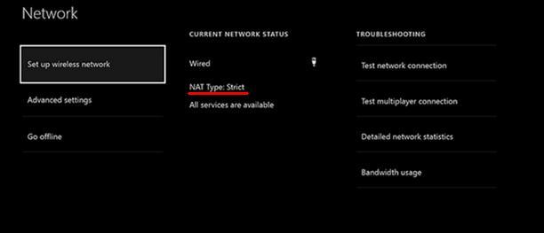 Verifică tipul NAT pe Xbox One