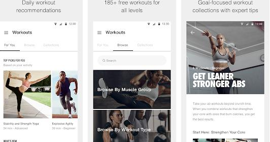 aplicatie de slabit Nike + Training Club