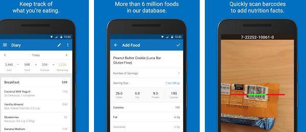 aplicatie pentru slabit MyFitnessPal Android iOS