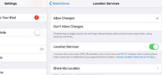 confidențialitate la aplicatii pe ipad