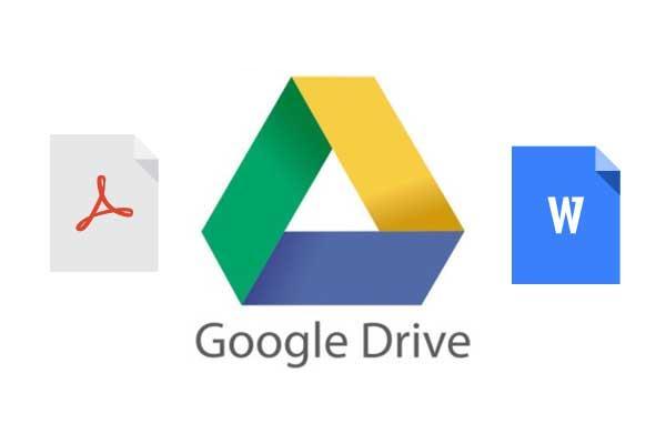 program de convertit fisiere PDF în Word cu Google Drive