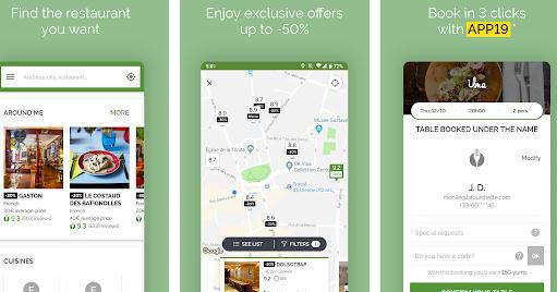 Aplicații pentru restaurante TheFork
