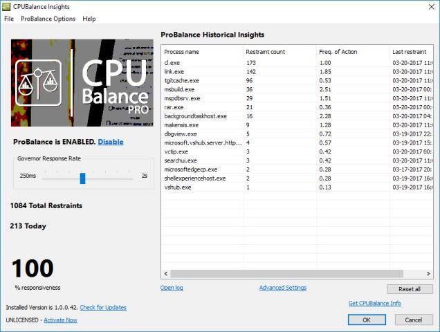 CPUBalance Program de marit viteza la procesor