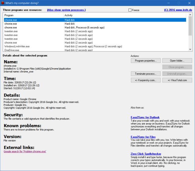 Caută programele care folosesc CPU-ul sau hard disk-ul pe PC sau laptop