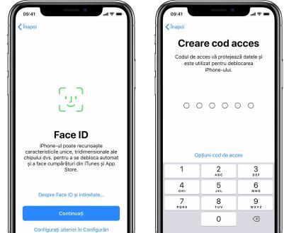 Configurează funcția Face ID sau Touch ID pe iPhone