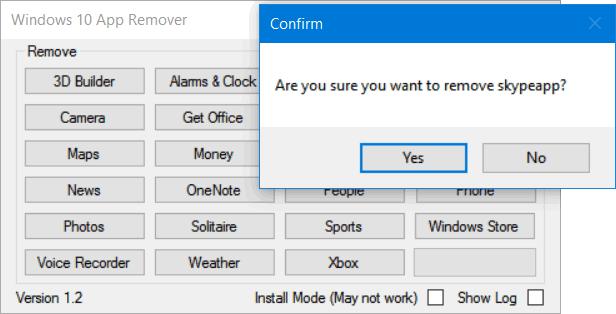 Program de șters aplicații preinstalate din Windows 10