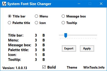 Program pentru modificare font Windows 10