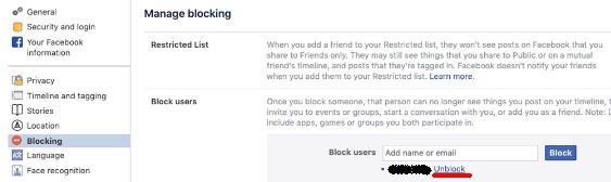 Lista de blocare persoane pe facebook messenger