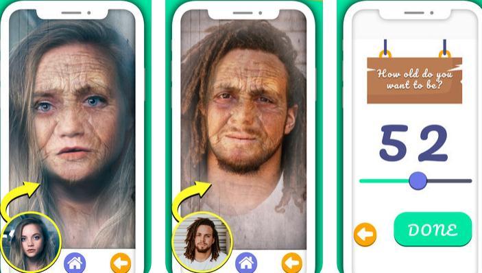 Aplicații de îmbătrânire a fetei pentru iPhone sau Android