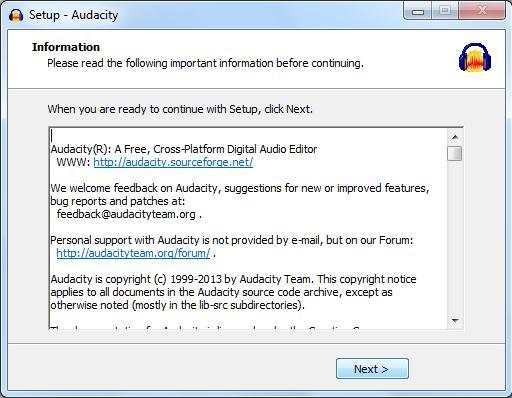 Audacity instalare gratuită