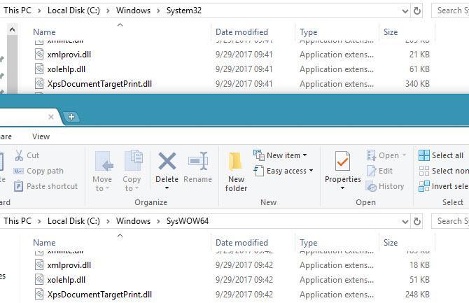 Care este diferența intre SysWOW64 și System32