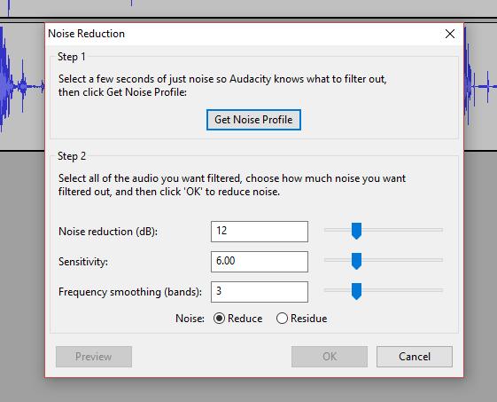 Cum folosești funcția Noise Reduction în Audacity