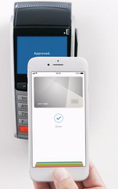 plateste cu telefonul iphone Apple Pay in magazine