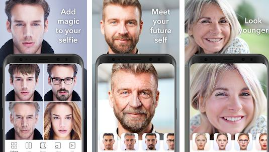 program imbatranire poze in timp real FaceApp (Android iOS)