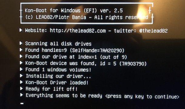 spargere parola Windows XP KON-BOOT
