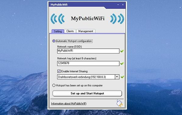 transformare laptop in wireles MyPublicWiFi