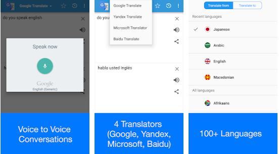 Alte Aplicații de traducere fără internet Android sau iPhone