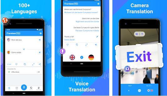 Aplicații de traducere fără internet iTranslate