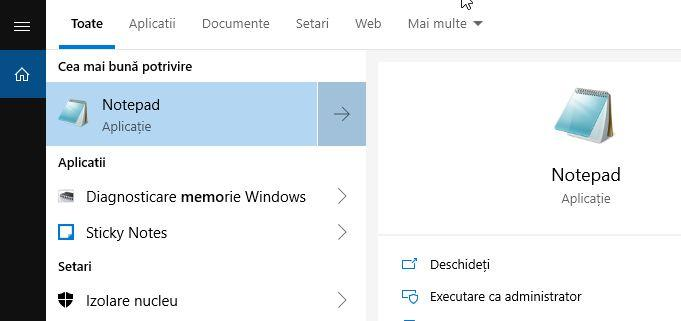 Diagnosticare Memorie Windows 10