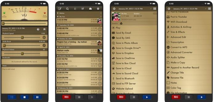 Înregistrare audio în format MP3 cu iPhone