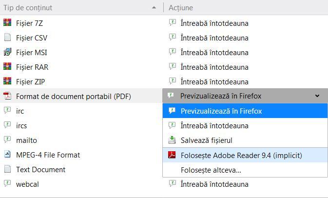 Adobe Reader pentru browser mozilla