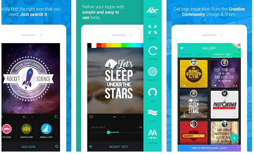 Aplicație de făcut logo-uri pe Android sau iPhone