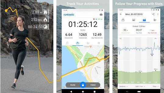 Aplicație pentru alergare Runtastic