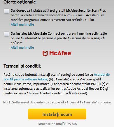 Instalează Adobe Reader în Mozilla Firefox