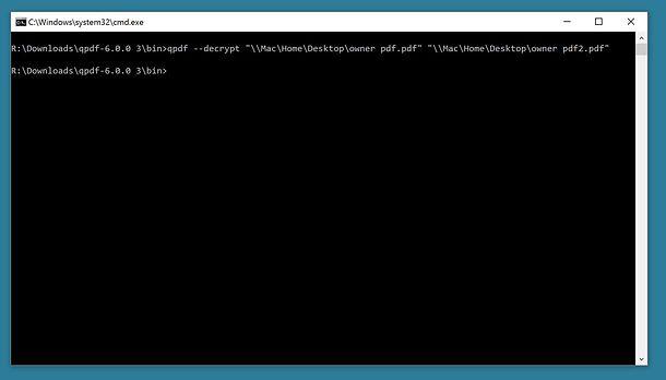 Program de desecurizat PDF QPDF (Windows macOS Linux)