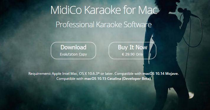 Program pentru Karaoke MidiCo (macOS)