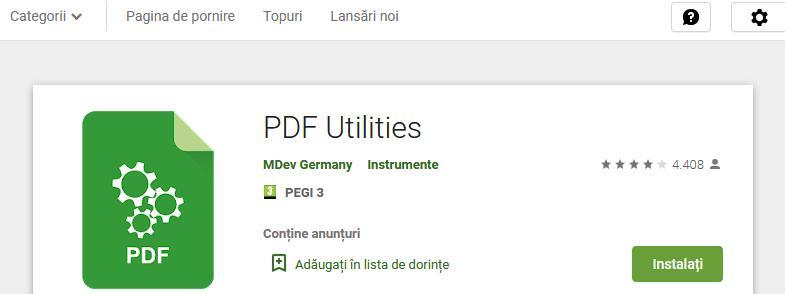 deschidere PDF parolat PDF Utilities