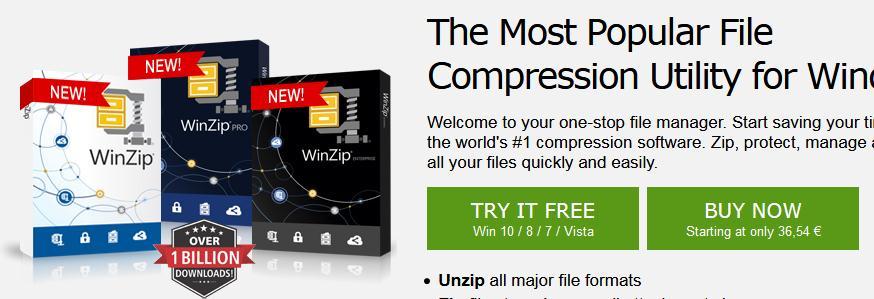 comprimare poze cu WinZip