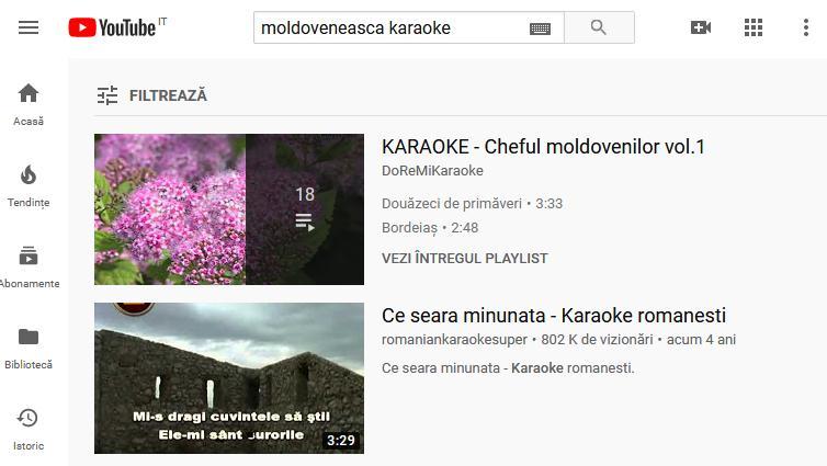 muzica de cantat karaoke
